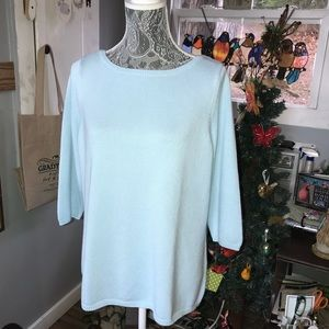 Beautiful blue sweater by Talbots